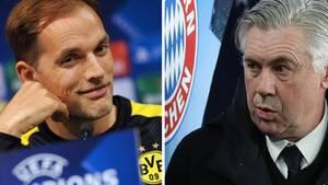 BVB-Trainer Thomas Tuchel (l.) und FC-Bayern-Coach Carlo Ancelotti