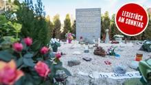 Ein Gedenkstein nahe Le Vernet erinnert an die Opfer des Germanwings-Absturzes