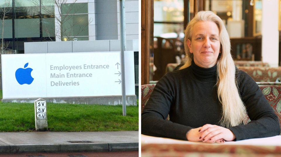 Daniela Kickl wurde in ihren drei Jahren bei Apple nicht glücklich. Links der Eingang zur Apple-Europa-Zentrale in Hollyhill in der Nähe von Cork in Irland.