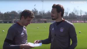 Sie nennen esThoMats-Challenge: Thomas Müller und Mats Hummels liefern sich den ersten von mehreren Wettstreits