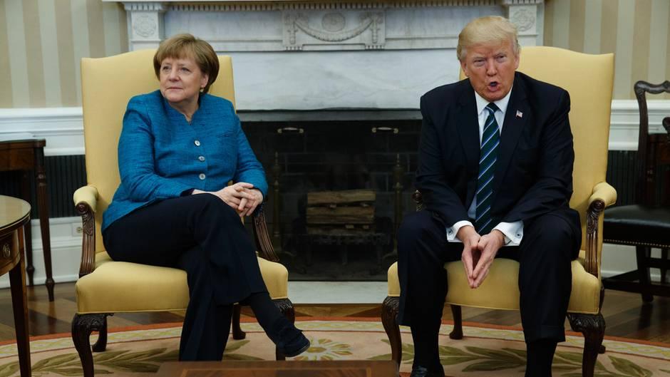 Netzreaktionen auf Oval-Office-Begegnung: Mutti Merkel pampert den kleinen Donald