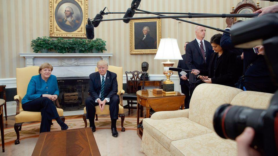 Kein zweiter Händedruck im Oval Office: Angela Merkel und Donald Trump