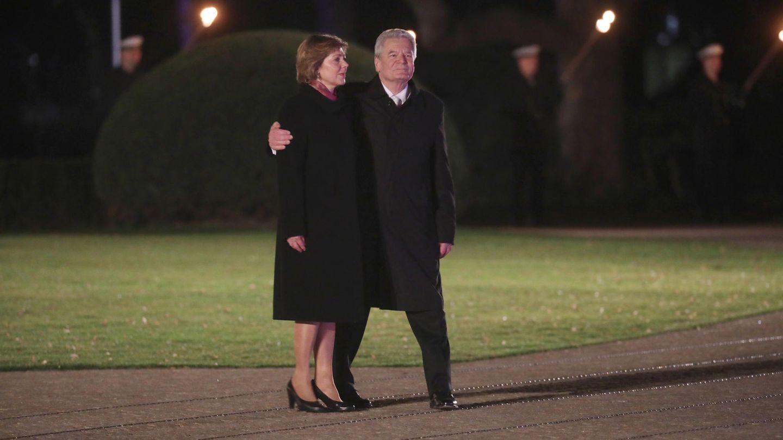Daniela Schadt und Joachim Gauck: Verabschiedung aus dem Schloss Bellevue
