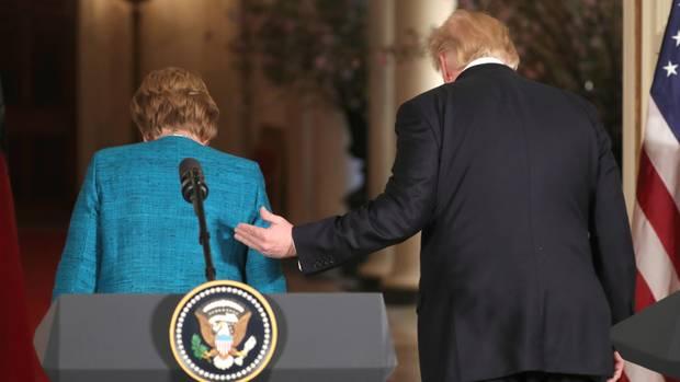 Bundeskanzlerin Angela Merkel und US-Präsident Donald Trump