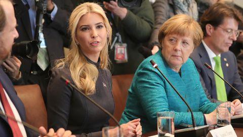 Ivanka Trump und Angela Merkel