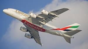 Airbus A380 von Emirates
