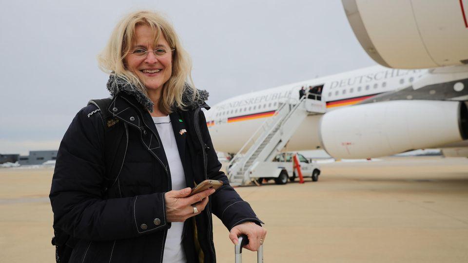 Kristina Dunz bei ihrer Reise nach Washington