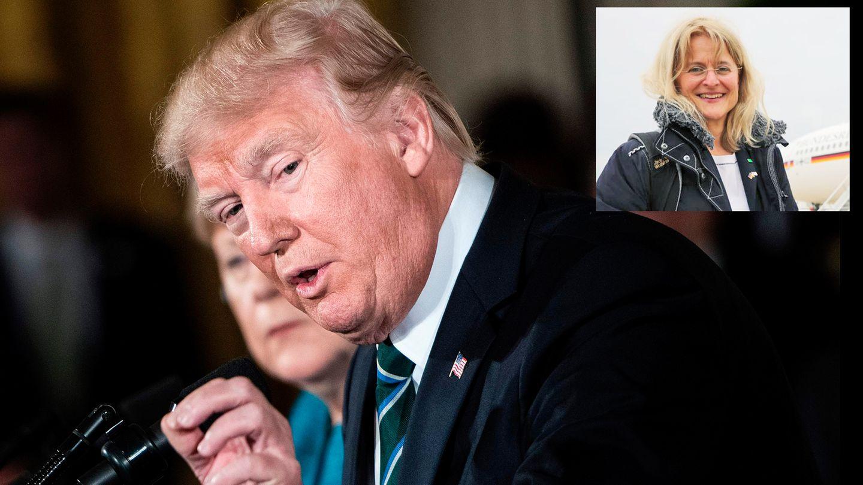 Donald Trump auf der Pressekonferenz mit Angela Merkel: US-Journalisten haben es gerade schwer, kritische Fragen zu stellen.