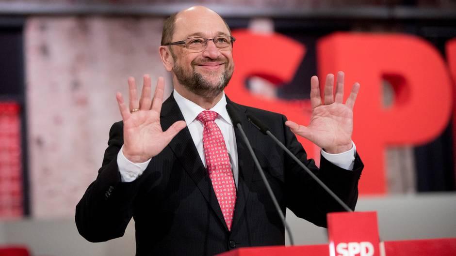 SPD wählt Schulz zum Parteichef - bestes Ergebnis der Geschichte