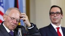 Wolfgang Schäuble und Steven Mnuchin: Neues Zeitalter des Welthandels?