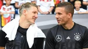 Freunde fürs Leben: Bastian Schweinsteiger und Lukas Podolski