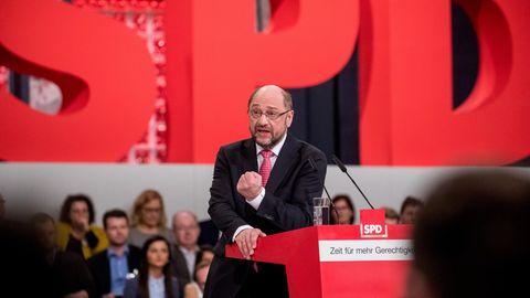 Martin Schulz beim SPD-Parteitag: Mit Rückendeckung in den Wahlkampf