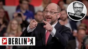 DER Mann der SPD: Martin Schulz, Kandidat für Kanzleramt und Parteivorsitz, gewählt mit satten 605 von 605 Stimmen.