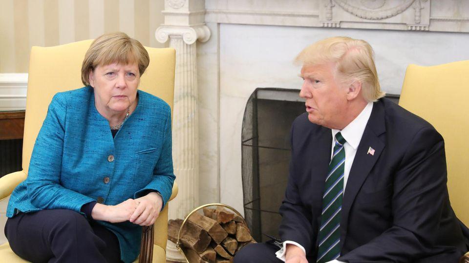 Die Stimmung zwischen Bundeskanzlerin Angela Merkel und US-Präsident Donald Trump war offensichtlich nicht die beste