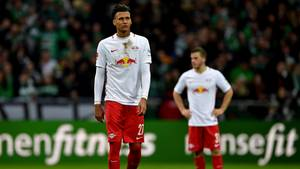 Frustriert: die RB Leipzig-Spieler nach der Niederlage gegen Bremen