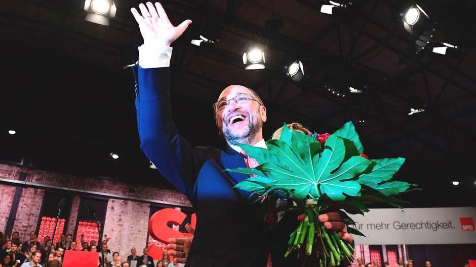 Der neue SPD-Chef Martin Schulz nach seiner Wahl am Sonntag in Berlin