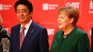 Merkel und Abe in Hannover