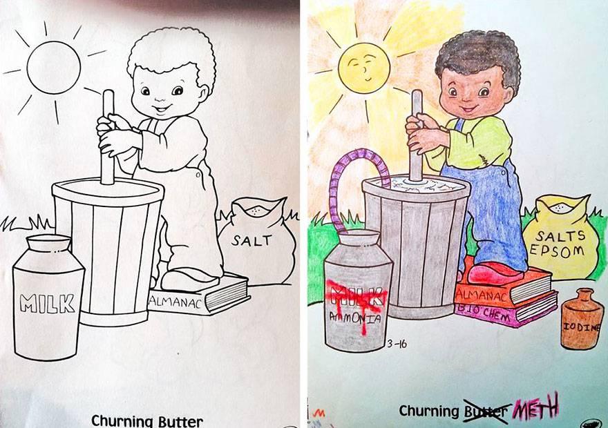 Malbücher: Wenn Erwachsene sich an Kinderbildern versuchen | STERN.de