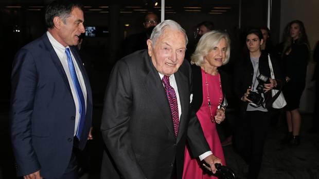 Der Milliardär David Rockefeller ist gestorben (hier auf einer Veranstaltung 2015).