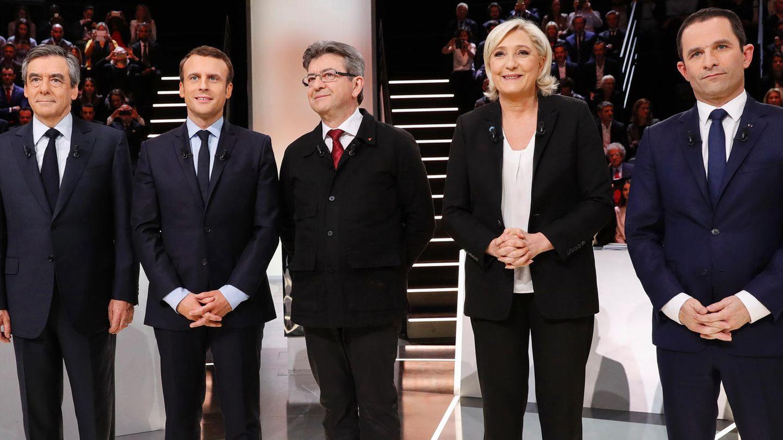 Die fünf Präsidentschaftskandidaten in Frankreich vor der TV-Debatte