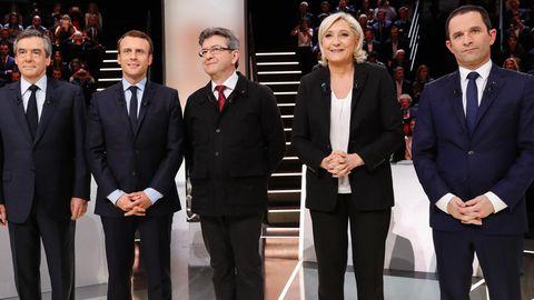 Frankreich Marine Le Pen Emmanuel Macron