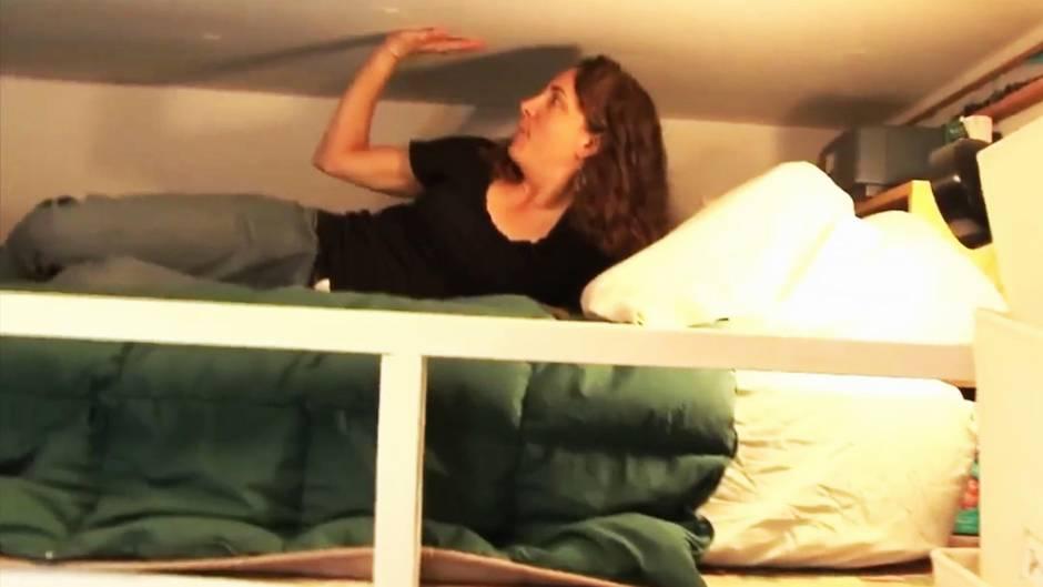 Nichts für Klaustrophobe: So lebt es sich in einer Acht-Quadratmeter-Wohnung