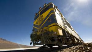 Zug in Bolivien