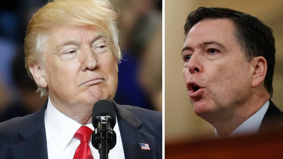 Der US-Präsident Donald Trump (l.) und der FBI-Direktor James Comey