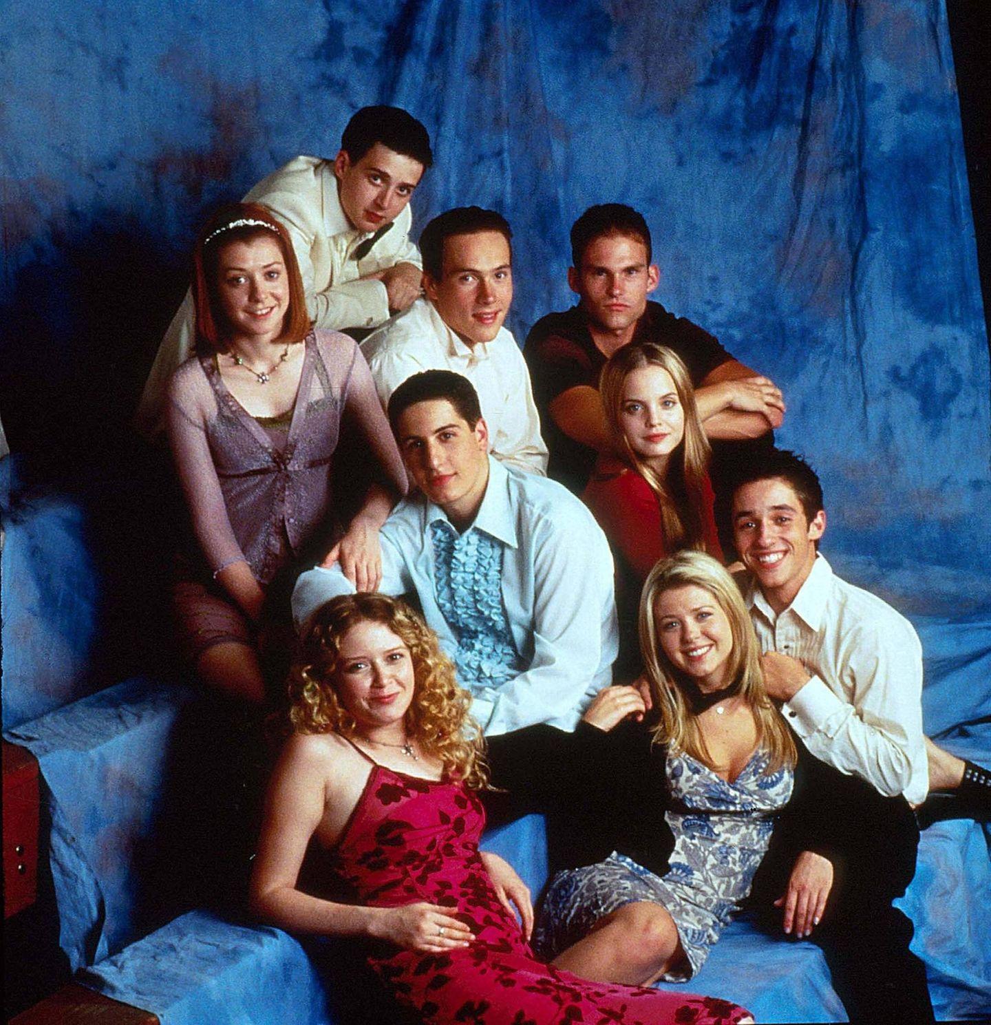 """Damals waren sie noch unschuldig: Die Originalbesetzung des ersten Teils von """"American Pie"""" im Jahr 1999."""