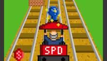 """Spiel """"Schulzzug"""" mit Martin Schulz als Lokführer. Die SPD will das Online-Game jetzt entschärfen lassen."""