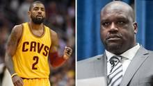 Der Basketballer Kyrie Irving (l.) und die NBA-Legende Shaquille O'Neal