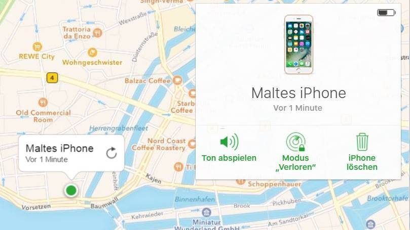 "Die Funktion ""iPhone finden"" in Apples iCloud"