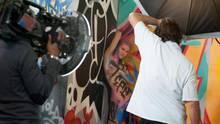 GNTM-Kandidatinnen werden zu lebenden Graffitis