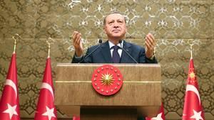 Der türkische Präsident Recep Tyyip Erdogan packt in Ankara wieder die Verbal-Keule aus.