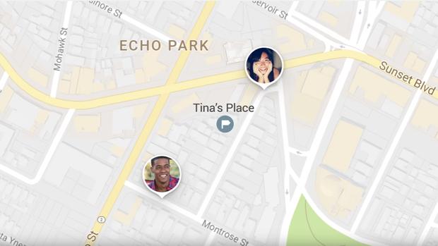 Echtzeit-Lokalisierung bei Google Maps