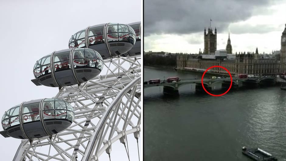 Westminster Brücke: Diese Aufnahmen machten Touristen vom Anschlag aus dem London Eye