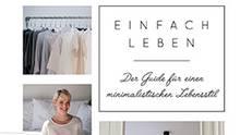 """Das Cover des Buchs """"Einfach leben: der Guide für einen minimalistischen Lebensstil""""."""