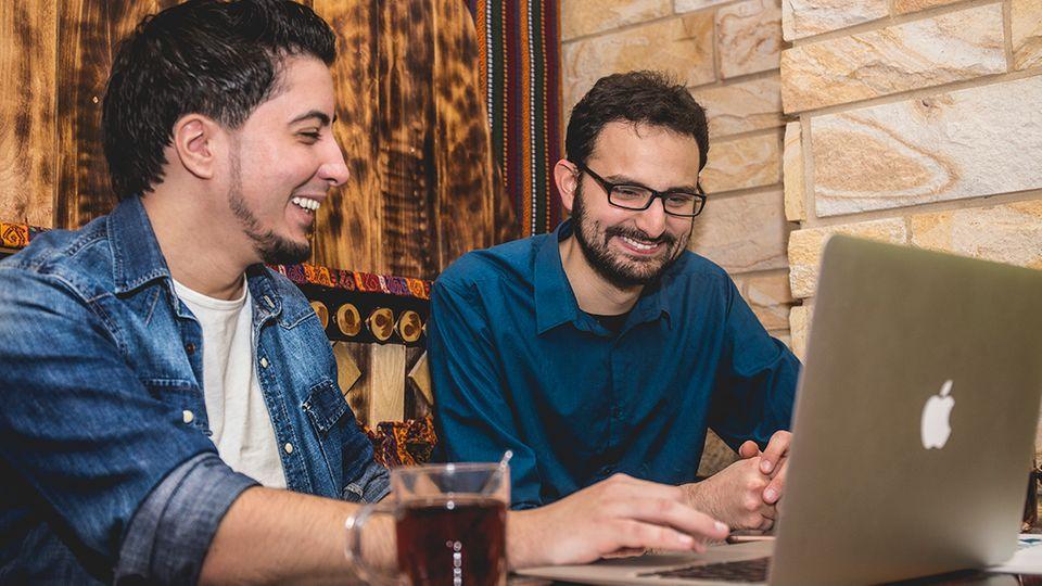 Das Noktara-Team: Soufian El Khayari (links) und Derya Sami Saydjari