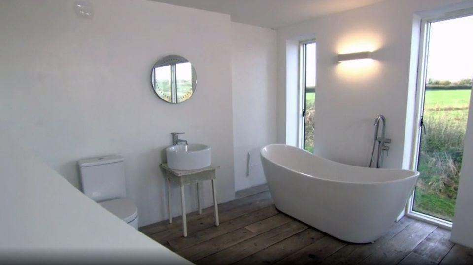 Das Paar wollte ein extravangantes Bad.