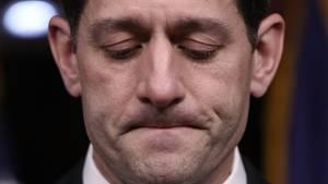 Hat Donald Trump eine peinliche Niederlage nicht ersparen können: Paul Ryan schaut verkniffen nach unten
