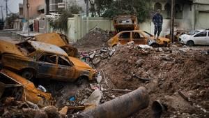 Zerstörungen in Mossul - Zivile Opfer gehen wohl auch auf das Konto des US-geführten Anti-IS-Koaltion