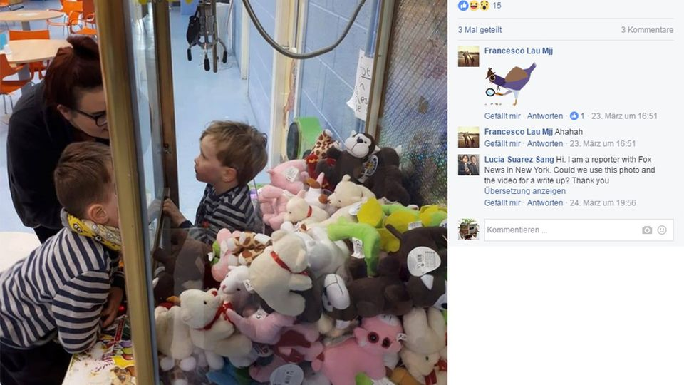 Kind steckt in Greifautomat fest
