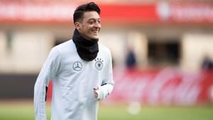 Nationalspieler Mesut Özil auf dem Platz