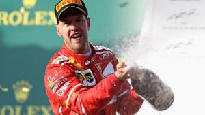 Formel 1 2017: Sebastian Vettel bejubelt seinen Auftaktsieg in Melbourne