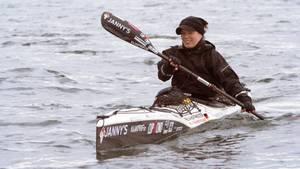 Freya Hoffmeister beim Start in Seattle