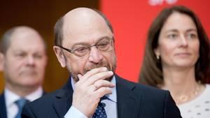 Martin Schulz sehr nachdenklich - Mobilisierte Nichtwähler bremsen Meinungsforscher bei Saarland.Wahl aus