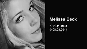 Melissa Beck wurde 20 Jahre alt.