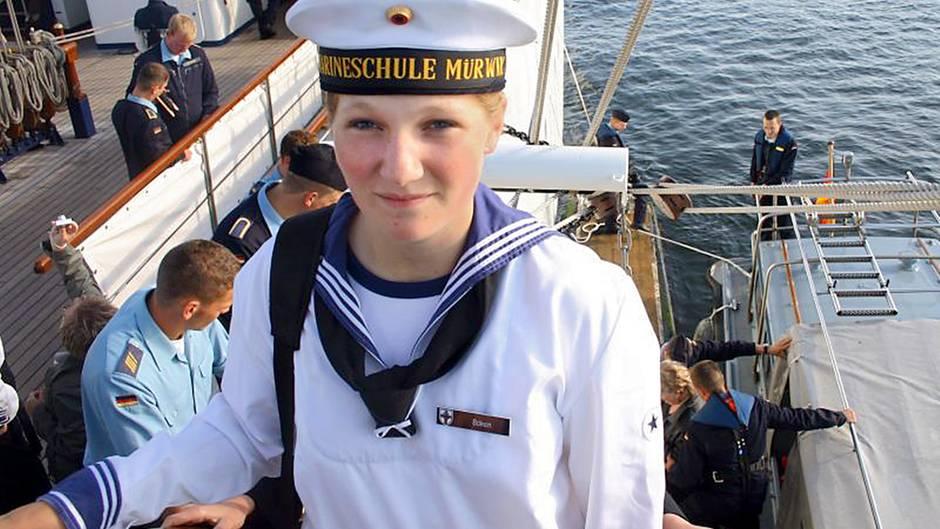 Jenny Böken auf der Gorch Fock