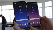 Galaxy S8+ (6,2-Zoll-Screen) vs. Galaxy S8 (5,8 Zoll)