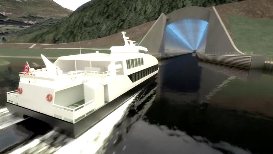 Ungewöhnliches Projekt: Weltweit einmalig: Norwegen plant gigantischen Tunnel für Schiffe